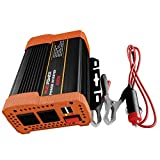 #3: Car Power Inverter 400W - Dual Fast USB Smart Charging Ports 4.8A + Built-in Smart Fan + 2 Outlets Auto Converter DC 12V to AC 110V - Fast Charger for iPhone, Laptop, etc. Peak Power 800 Watt