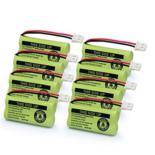 Geilienergy BT183342 BT283342 BT166342 BT266342 BT162342 BT262342 Battery Compatible VTech CS6114 CS6419 CS6719 at&T EL52300 CL80112 VTech CS6719-2 Cordless Handsets (Pack of 8) -  CB08183342
