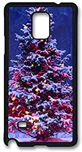 Christmas Tree Case Cover for Samsung Galaxy Note 4, Note 4 Case, Galaxy Note 4 PC Black Case Cover by runtopwell