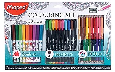 Maped 897417 33 Pieces Kit De Coloriage Y Compris Brosse Pointes