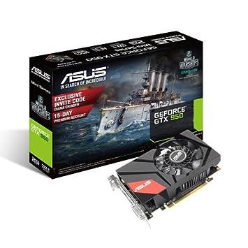 Asus GeForce GTX 950 - Tarjeta gráfica de 2 GB (GDDR5, PCIe, HDMI)