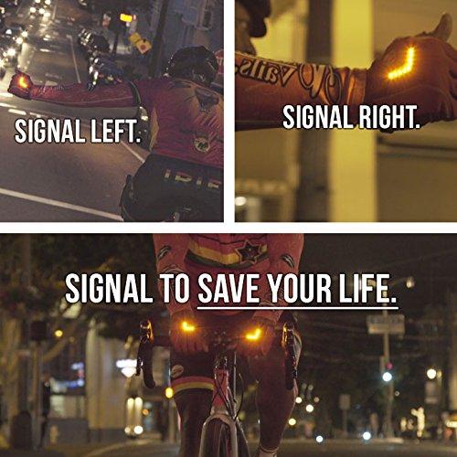 Zackees Award Winning LED Turn Signal Cycling Gloves