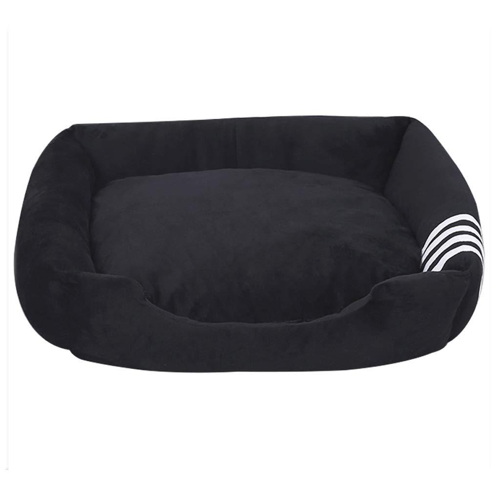 Black Pet Nest Four Seasons Universal Removable And Washable Small Medium Velvet Dog Cat Litter Mattress Villa Warm 40cm30cm12cm MUMUJIN