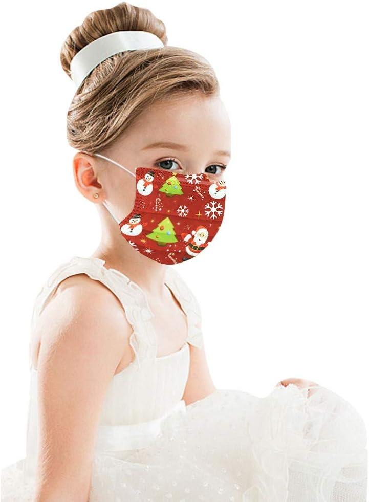 3 Capas Transpirables con El/ástico para Los O/ídos para Impresi/ón Linda Seguro Suave Transpirable Protecci/ón Personal Diaria YCQC Ni/ños Protecci/ón