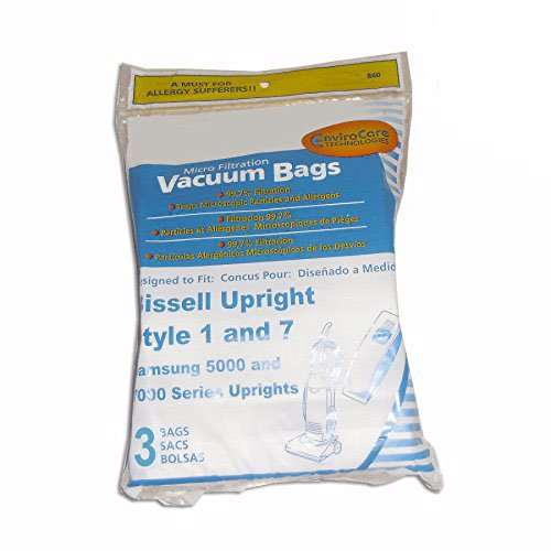 Bissell Micro Envirocare Style 1 & 7 Paper Bags 3pk # 840DW