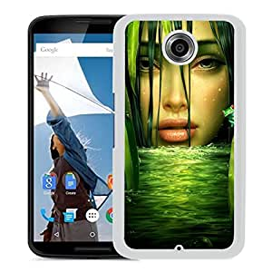 New Beautiful Custom Designed Cover Case For Google Nexus 6 With Girl Drawing (2) Phone Case