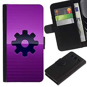 A-type (Purple Vapor Sprocket Punk) Colorida Impresión Funda Cuero Monedero Caja Bolsa Cubierta Caja Piel Card Slots Para Samsung Galaxy S3 III i9300 i747
