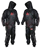 2Fit® Heavy Duty Sweat Suit Sauna Exercise Gym Suit Fitness, Weight Loss, AntiRip (Large)