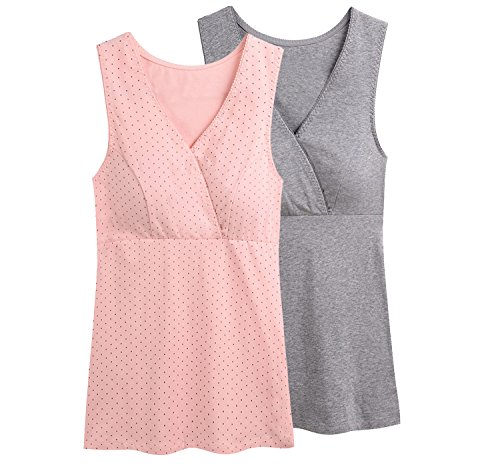 52f0c8e23d4f9 KUCI Women Maternity Nursing Tank Top Camisole Sleep Bra For Breastfeeding  - Buy Online in UAE.   Clothing Products in the UAE - See Prices, ...
