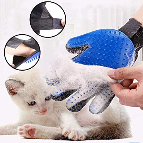 Guante de aseo para mascotas, 2 unidades, actualizado 259 suave removedor de pelo de mascotas, suave cepillo de deshedding herramienta de deshedding para gatos y perros – eficiente guante removedor de pelo de mascotas 3