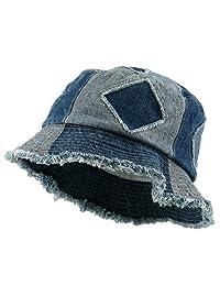 e4Hats.com Youth Denim Bucket Hat-Blues Cut