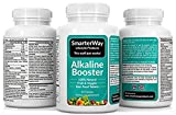 Smarterway Alkaline Booster Multivitamin with Probiotic Immune Support Brain Support Antioxidant Superfood Organic Wholefood Men and Women 90 Veggie Tablets Discount