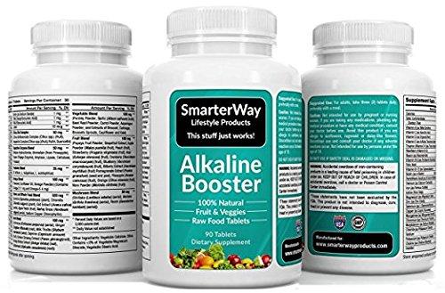 Smarterway Alkaline Booster Multivitamin with Probiotic Immune Support Brain Support Antioxidant Superfood Organic Wholefood Men and Women 90 Veggie Tablets Discount