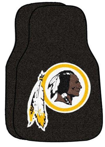 Washington Redskins 2 Piece Car (FANMATS NFL Washington Redskins Nylon Face Carpet Car Mat)