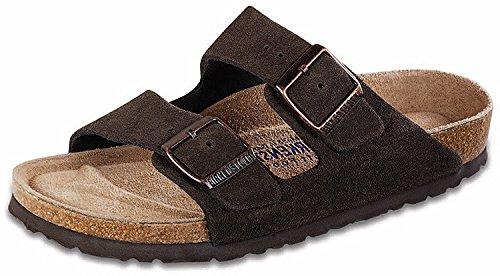Suede Mocha Footwear (Birkenstock Unisex Arizona Mocha Suede Sandals - 37 N EU / 6-6.5 2A(N) US)