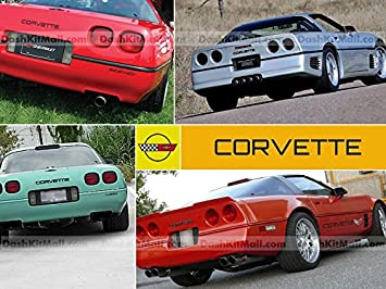 Yellow Plastic Letters for Chevrolet Corvette C4 1991-1996 Front /& Rear Bumper