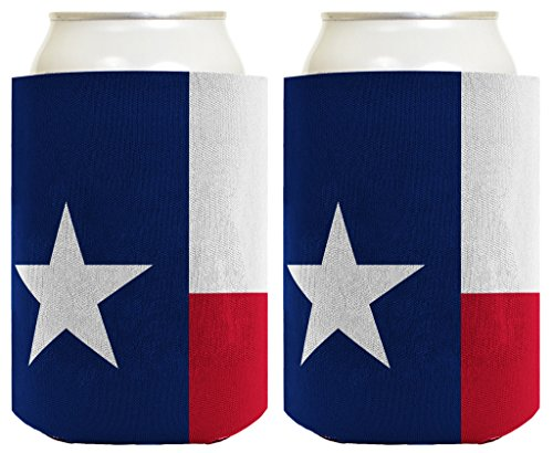 Funny Can Coolie Texas Flag Lone Star State Pride 2 Pack Can Coolie Drink Coolers Coolies Texas Flag (Lone Star Beer Poster compare prices)