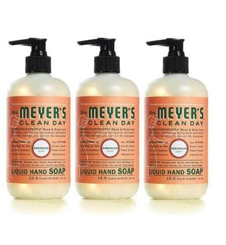 Mrs. Meyers Clean Day Liquid Hand Soap, Geranium, 12.50 Oz, 3 Pack [Misc.]