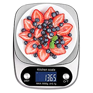 Digital Kitchen Scale NEXT-SHINE K305 11lb 5kg x 0.1g Gram Scale with Large Back-lit LCD Display and Tare Function for Cooking Baking Diets 51S1rg6dmOL  Zenith Digital Kitchen Scale by Ozeri, in Refined Stainless Steel with Fingerprint Resistant Coating 51S1rg6dmOL