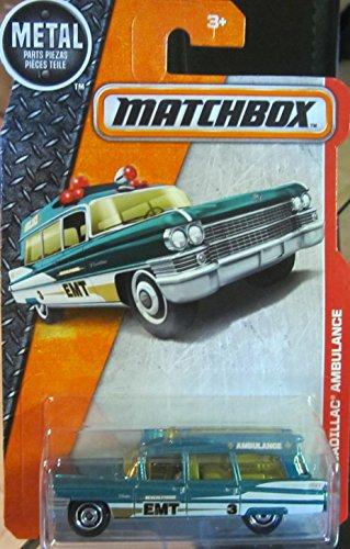 Matchbox 2016 MBX Heroic Rescue '63 Cadillac Ambulance 88/125, Turquesa