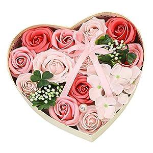 Hohaski Box Scented Bath Body Petal Rose Flower, DIY Soap Flower Gift Box, Eternal Flower Bouquet, Mother's Day, Wedding, Birthday, Valentine, Valentine's Day 109