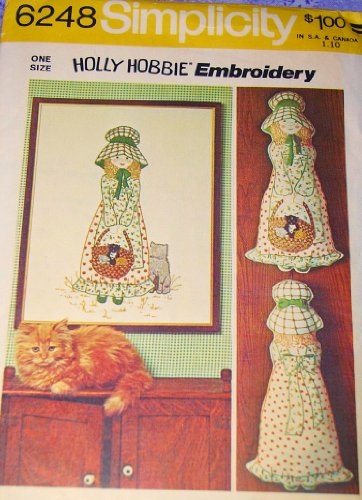 Simplicity 6248 Holly Hobbie Embroidery, Wall Hanging, Pillow Doll