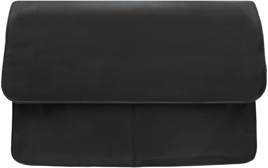 Piel Leather Three-Section Flap Portfolio One Size Saddle