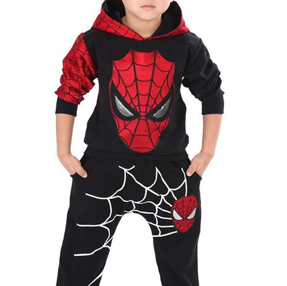 2018 Spring And Autumn Edition Versione Coreana Uomini E Donne Bambini Spider-Man Set per Bambini Nero Zouni
