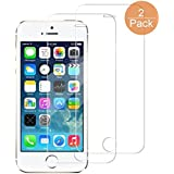 iPhone SE/ 5S/ 5C/ 5 Glass Screen Protector - Getron [9H Hardness][2.5D Round Edge] [Crystal Clear] [Scratch-Resistant] [Bubble Free] Tempered Glass Screen Protector for iPhone SE/ 5S/ 5C/ 5 (2 Pack)