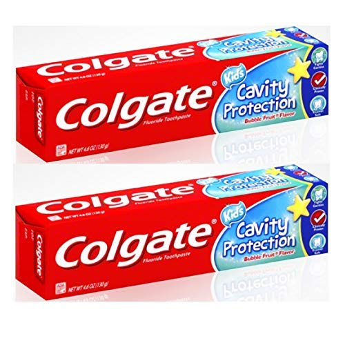 Colgate Anticavity Fluoride Kids Cavity Protection Toothpaste, Bubble Fruit Flavor 2.7 oz (Pack of ()