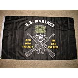 3x5 US Marines Mess with the Best Die like the Rest Double sided 2ply sewn Flag 3'x5' Banner