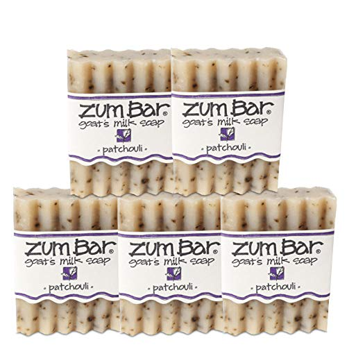 Indigo Wild Zum Bar Goat's Milk Soap, Patchouli - 5 Pack ()