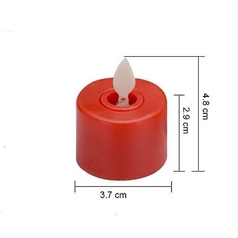 6pcs Tea Candle Home Led con pilas Vela sin llama Mini ...