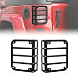 Automotive : Savadicar Tail Light Guard Cover Protector Matte Black Rear Euro Fit for 2007-2017 Jeep Wrangler - Pair