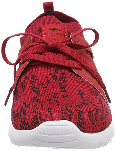 Red Kangaroos Red Velvet Trainers Red Tango 6068 K WoMen Sock 884ZwA7q