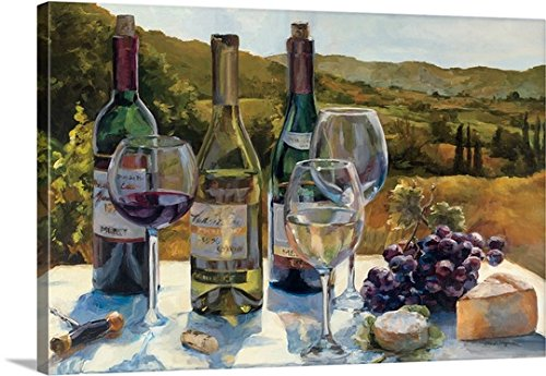 Wine Tasting Decor (Marilyn Hageman Premium Thick-Wrap Canvas Wall Art Print entitled A Wine Tasting)