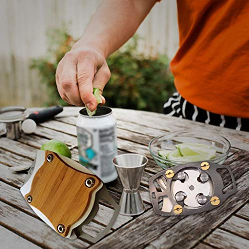 Topless Can Opener,Bar Tool Safety Easy Manual Can Opener with Locking Feature Effortless Openers,Portable Safe Cut Can Opener (1 PC Can Opener)