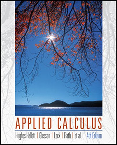 Applied Calculus, 4e WileyPLUS Student Package (Wiley Plus Products)