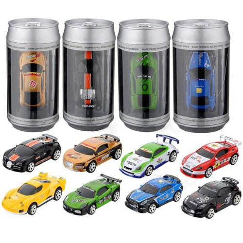 Radio Controlled Racing (Mini Coke Can Speed RC Radio Remote Controlled Micro Racing Car Toys Kids)