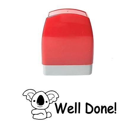 b3670532cba4 Amazon.com   Rectangle Customized Well Done Koala Design Self Inking ...