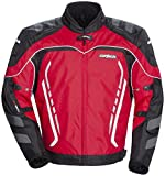 Cortech GX Sport 3 Men's Textile Armored Motorcycle Jacket (Red/Black, Medium)