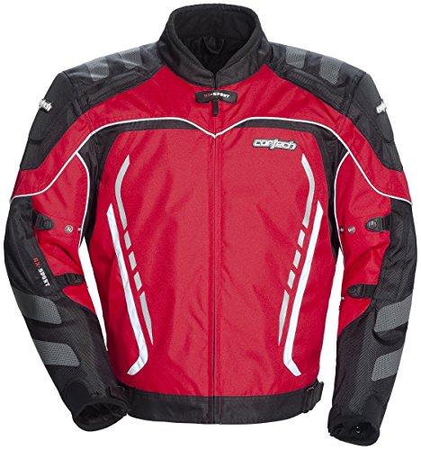 Cortech GX Sport 3 Men's Textile Armored Motorcycle Jacket (Red/Black, Medium)