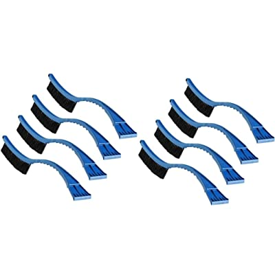 """Regent Snow Brush/Scraper 20"""" with Curved Handle - 8 Pack #bh004: Automotive"""