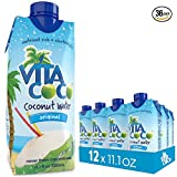Vita Coco Organic Coconut Water, Pure - Naturally Hydrating Electrolyte Drink - Smart Alternative to Coffee, Soda, and Sports Drinks - Gluten Free - 11.1 Fluid Ounce - Pack of 36