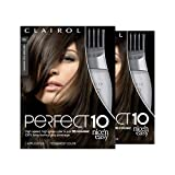 Clairol Perfect 10 By Nice 'N Easy Hair Color Kit (Pack of 2), 005A Medium Ash Brown, Includes Comb Applicator, Lasts Up To 60 Days