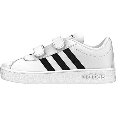 official photos 0f51a 6b94c Adidas - VL Court 2.0 CMF I - Chaussures de Tennis - Mixte Enfant - Blanc