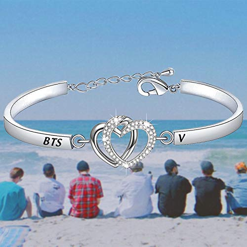 WSNANG Army Gift to Love Yourself and Keep On It Army Bracelet DIY Bracelet Jewelry Making Gift for Korean Group Fans Girls