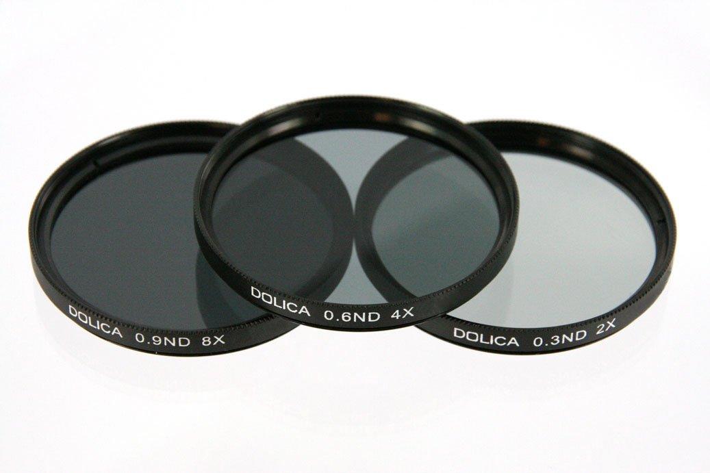Dolica CF-NDK55 55mm 0.3, 0.6, 0.9ND Neutral Density Filter Kit