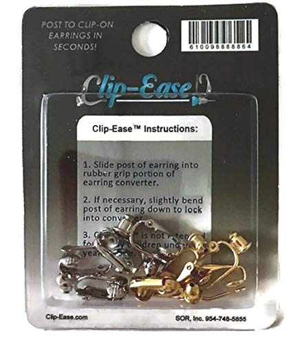 Clip-on Earring Converter. Four Pair! Turn Any Post or Stud Earring Into a Clip-on Earring!