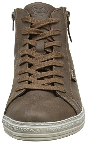 380 Gerli 32ln213 Femme Dunkelbraun Marron by Sneakers 636155 Dockers Hautes 17Hzqn1